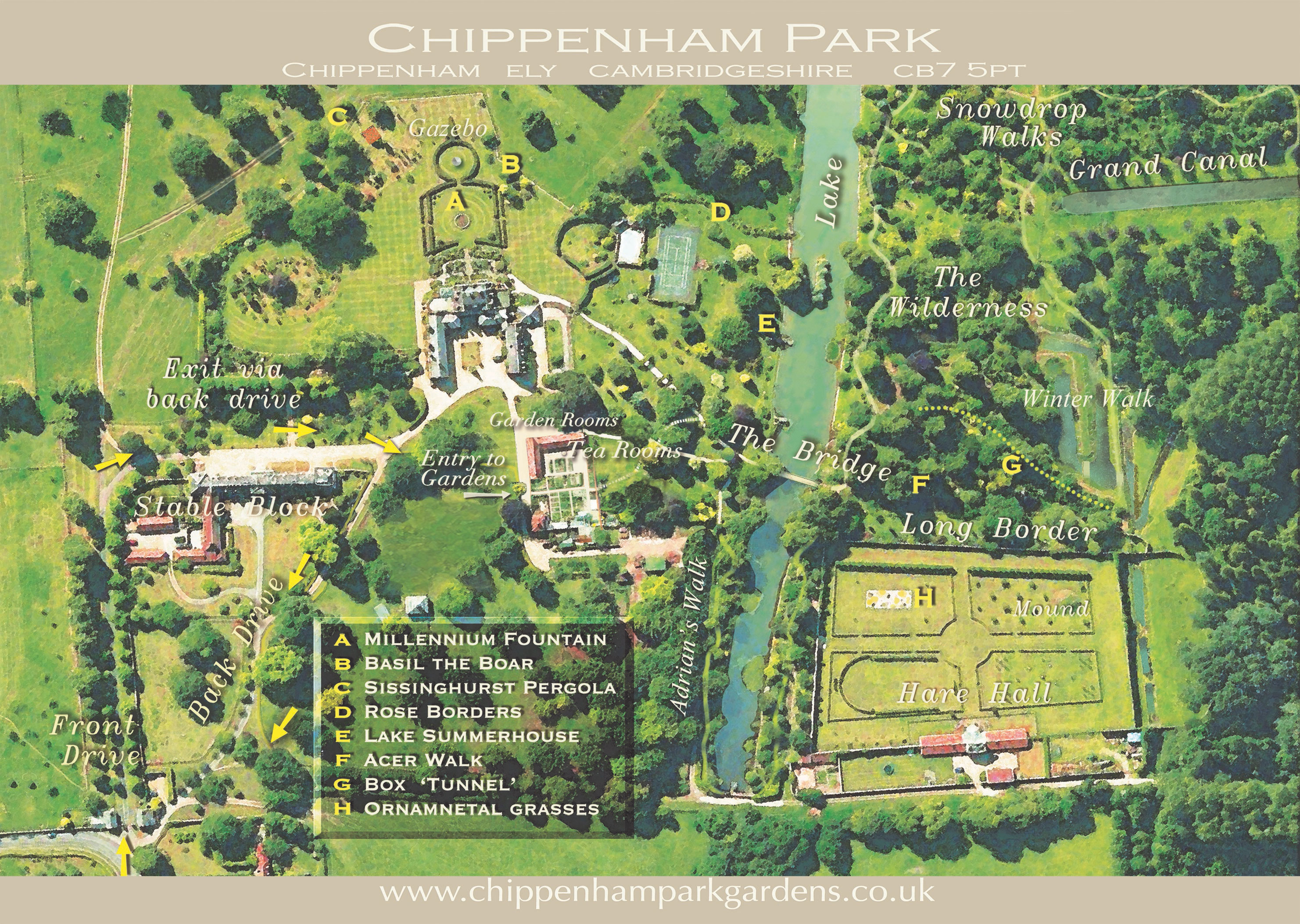Park Map | Chippenham Park Gardens